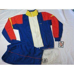 90s NOS Vintage McGregor Men's XL TRACK SUIT Jacket Pants COLOR BLOCK Acrylic